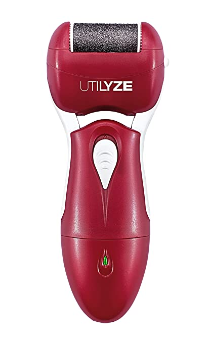 UTILYZE Rechargeable Electronic Foot File Wet & Dry Pedicure Electric Callus Remover