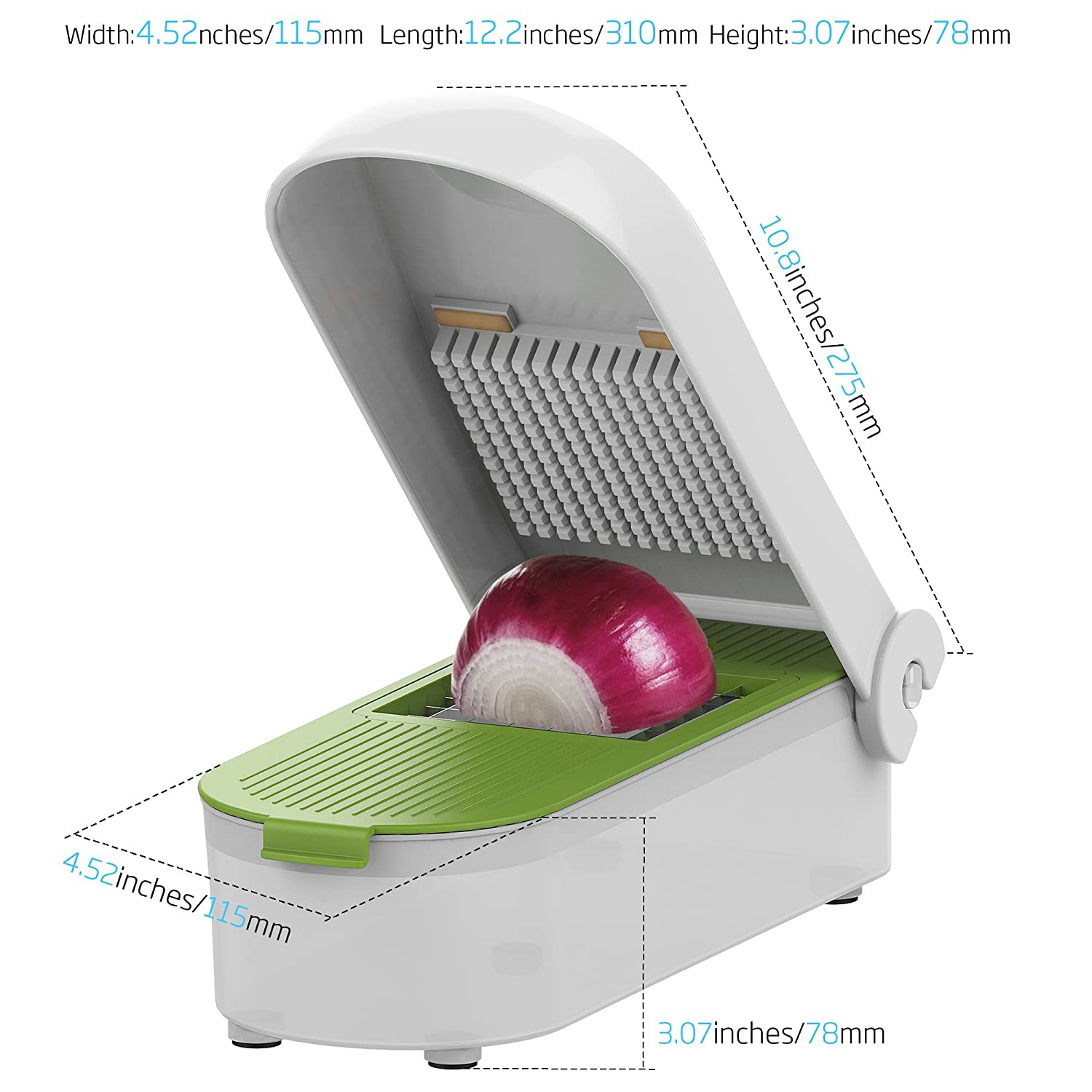 LOVKITCHEN Multifunctional Adjustable Vegetable and Fruit Chopper