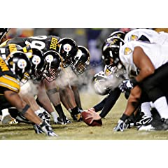 NFL Pittsburgh Steelers Steelers-Ravens Line of Scrimmage In Your Face Mural Wall Graphic