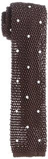 J. Press Silk Dot Knit Tie TROVCM0340: Brown