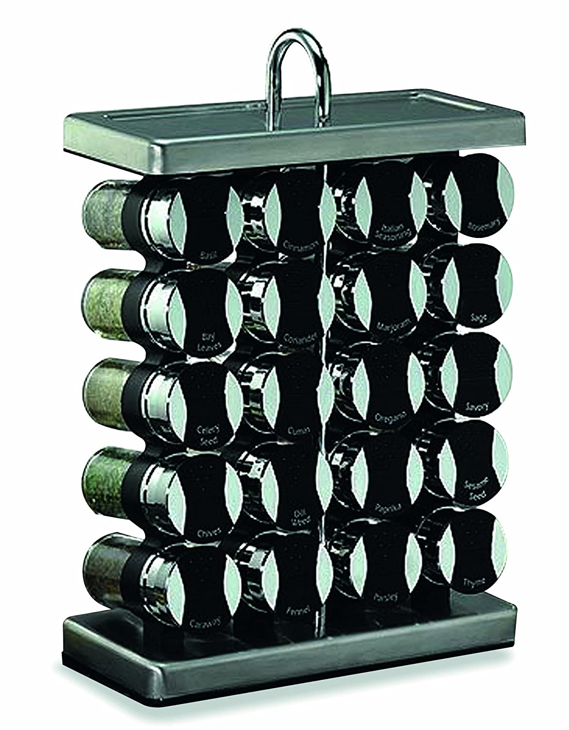 stainless steel spice racks with spices included