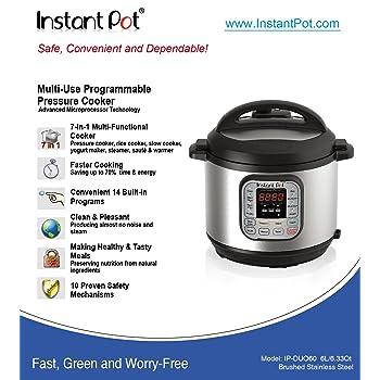 Instant Pot IP-DUO60 7-in-1 6Qt/1000W