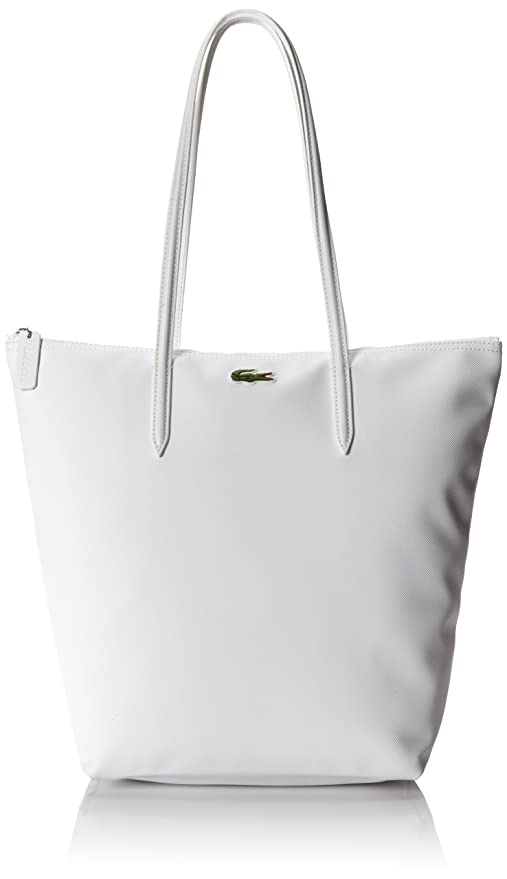 Lacoste Women's Concept Vertical Tote Bag, White, One Size