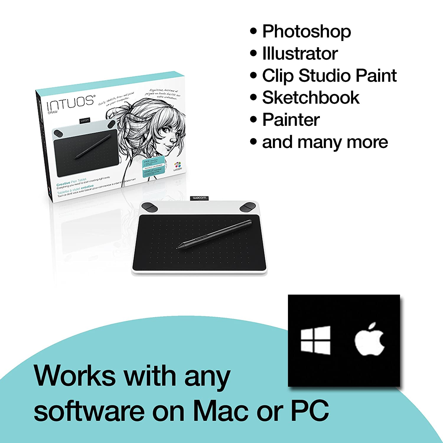 Wacom Intuos Draw Ctl490dw Digital Drawing And Graphics For Pc Mac Windows Ebay
