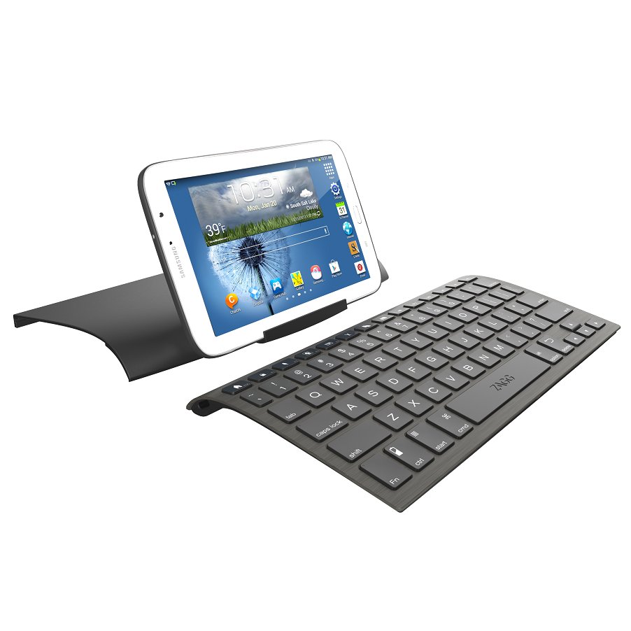Zagg keys universal keyboard case stand for ipad for Ipad o android