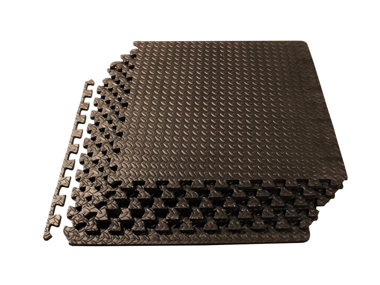 Rubber mats gym interlocking - Prosource Puzzle Exercise Mat Eva Foam Interlocking Tiles