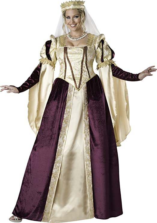 7b17fd5e611 Renaissance Princess Adult Plus Size Burgundy and Gold Costume by  InCharacter Costumes