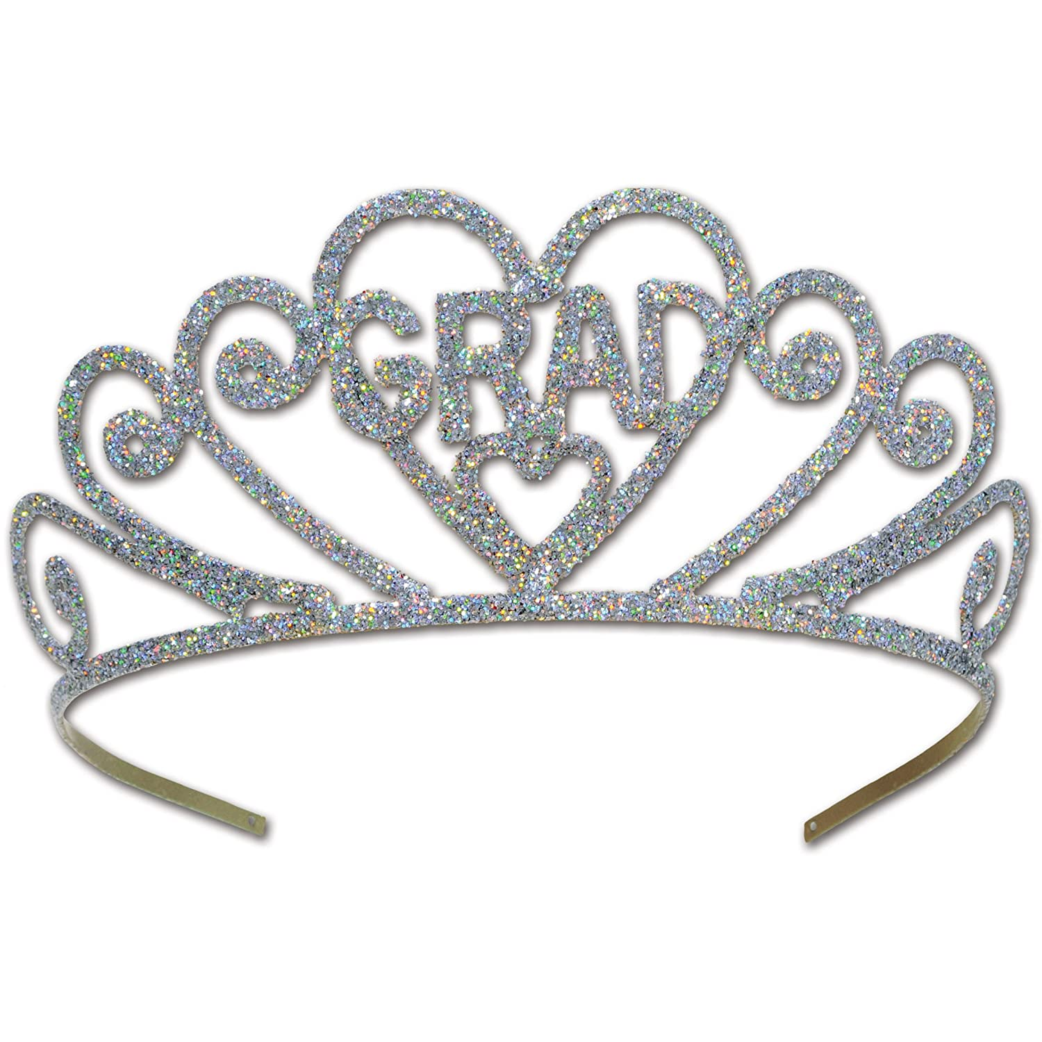 Beistle Glittered Metal Graduate Tiara