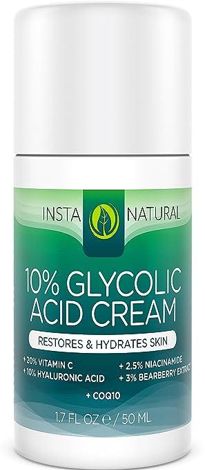 InstaNatural Glycolic Acid Cream Reviews