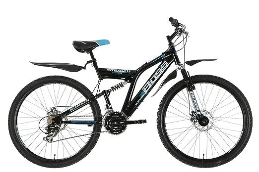 Boss 9241180 - Bicicleta de montaña con doble suspensión ( 21 velocidades, hombre ) ), color negro, talla 26