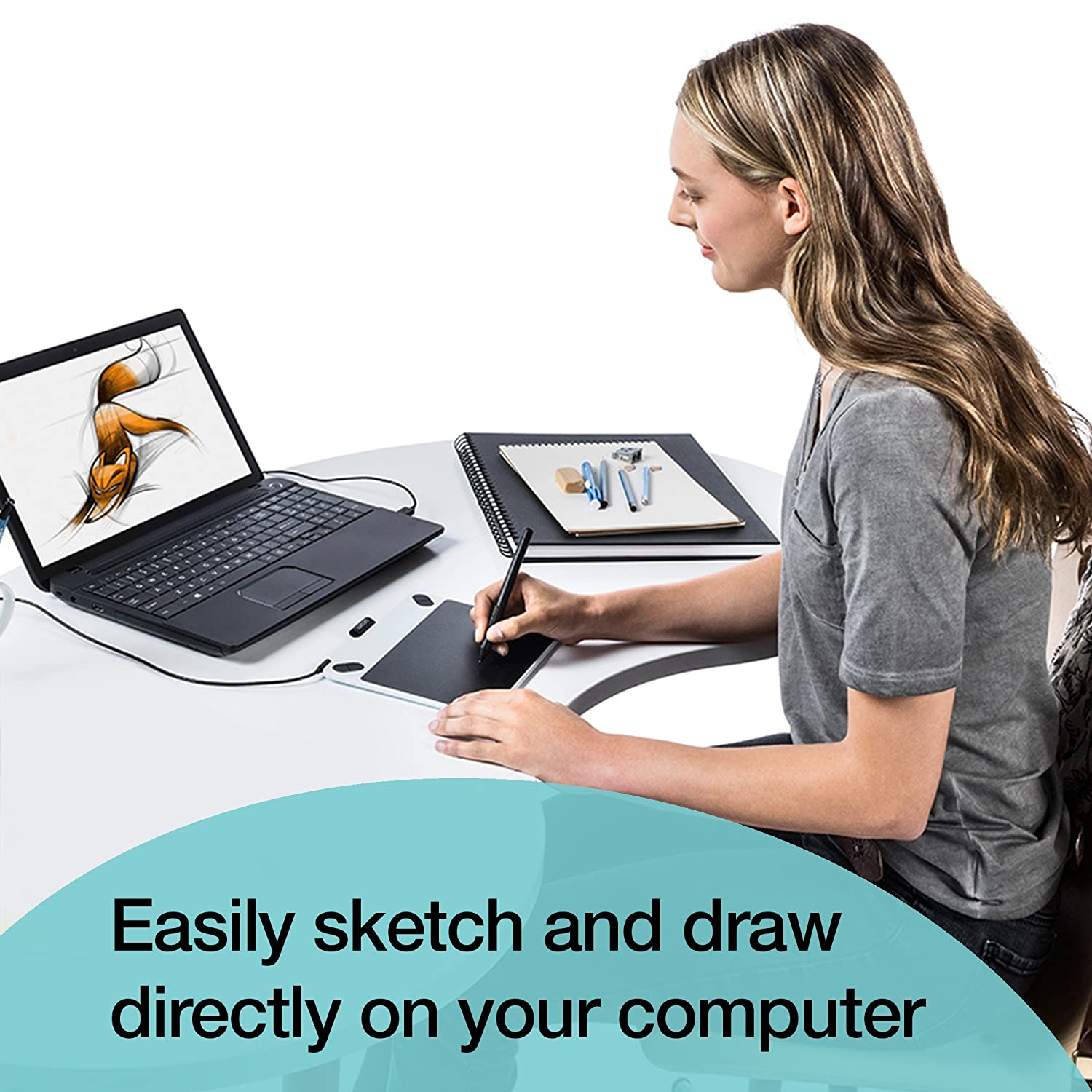 wacom intuos draw ctl490dw digital drawing and graphics for pc mac windows ebay. Black Bedroom Furniture Sets. Home Design Ideas