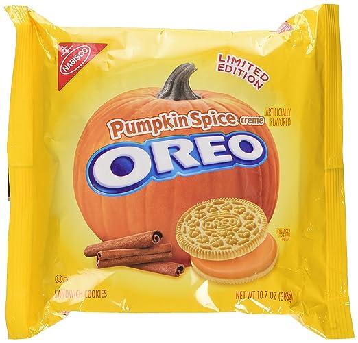 Pumpkin Spice Oreo Cookies Limited Edition Seasonal, 10.7 Ounce