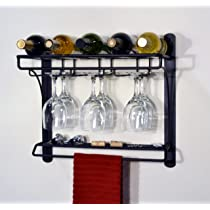 J&J Wire Wall Mount Wine Bar Rack