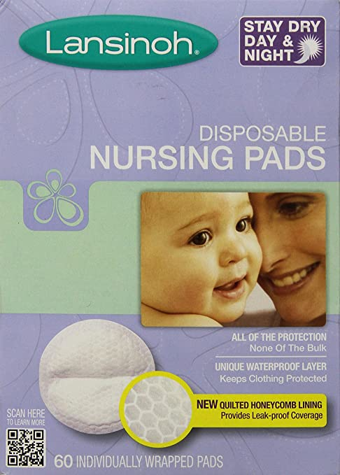 Lansinoh Disposable Nursing Pads, 60 Count.
