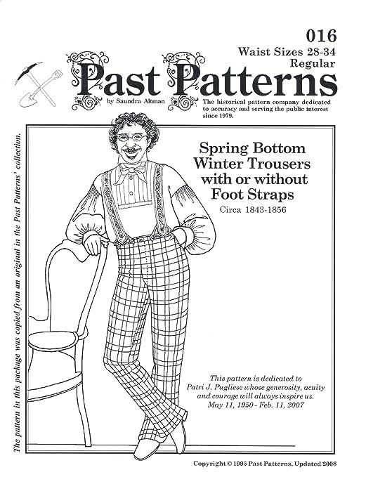 Men's Vintage Reproduction Sewing Patterns 1843-1856 Mens Winter Trousers Pattern (Size- Medium waist 36-42) $17.00 AT vintagedancer.com