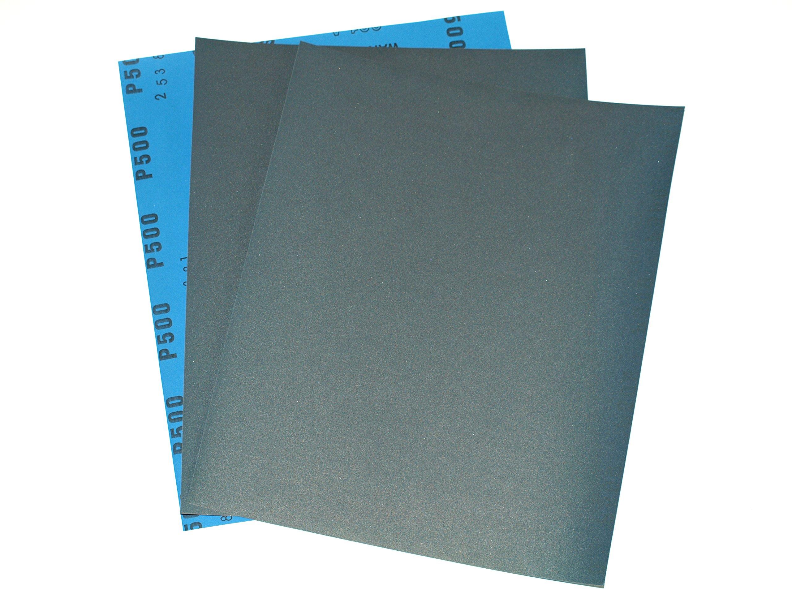 Wet and Dry Sandpaper 5000grit 5 sheets 230 x 280mm Waterproof Paper Highest Qua