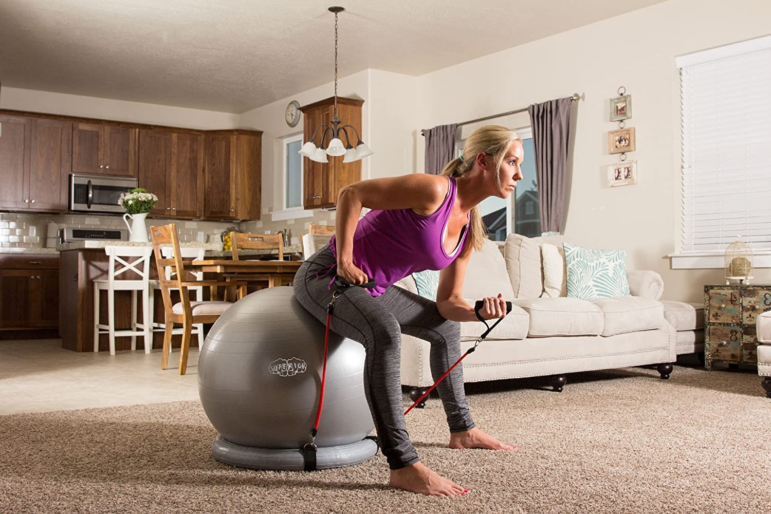 Exercise ball workout for women