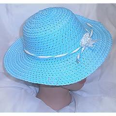 Blue Easter Hat Girls Spring Hat