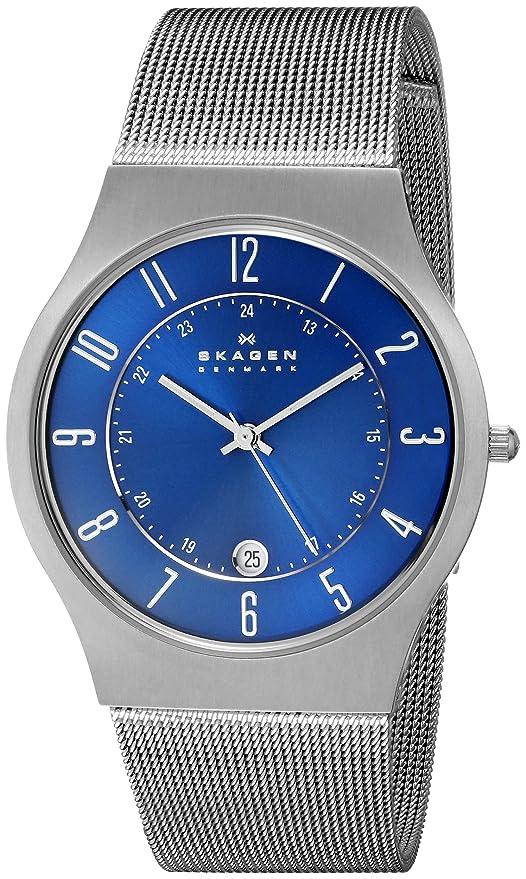 Best Watches Under 500 - Skagen Titanium Blue Dial Watch