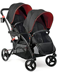 Contours Options Elite Tandem Stroller, Red Velvet