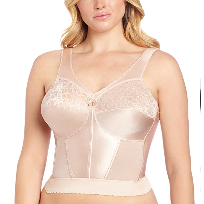 1940s Lingerie- Bra, Girdle, Slips, Underwear History 1940s Glamorise Womens Magiclift Long Line Bra                               $54.14 AT vintagedancer.com