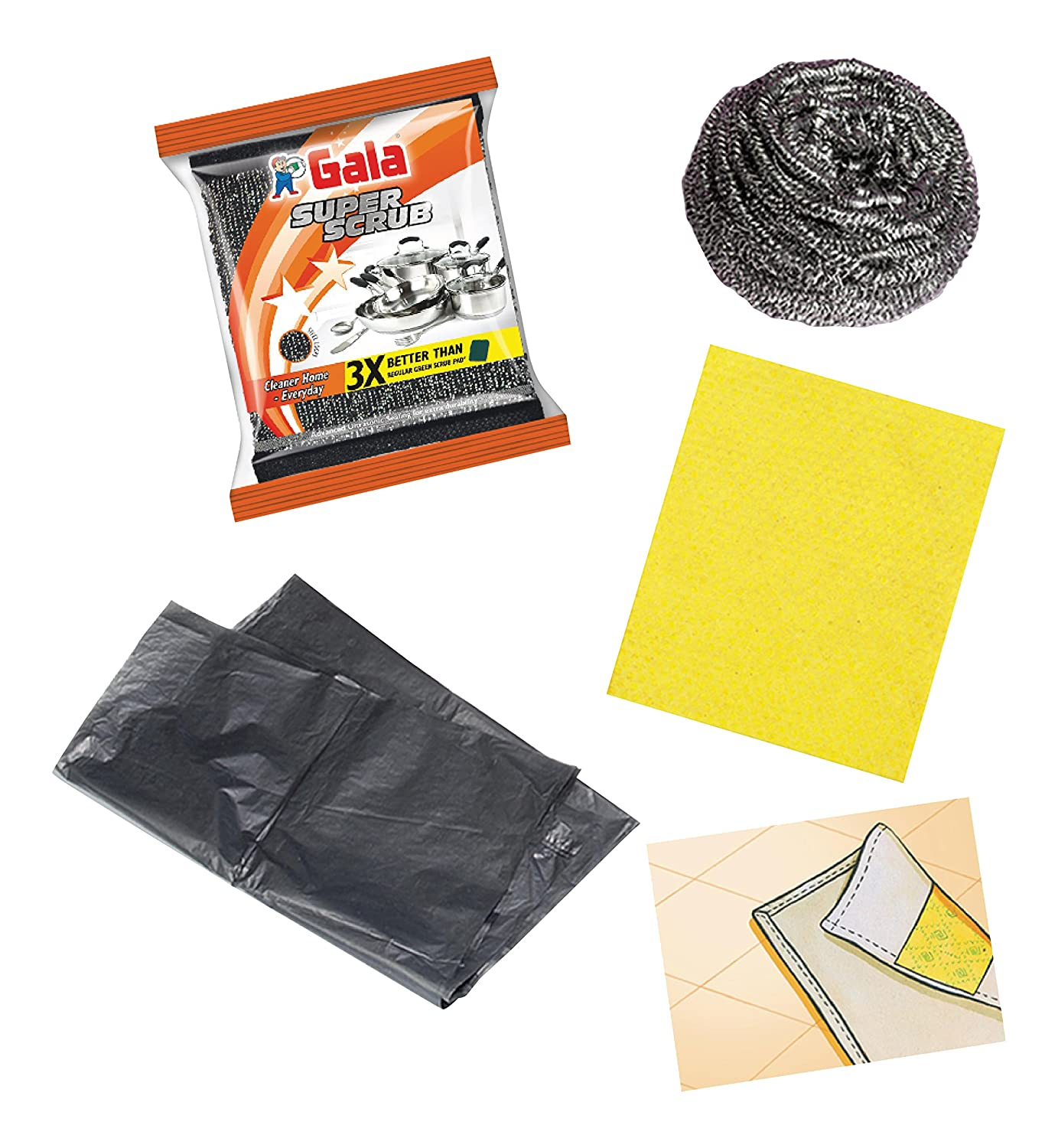 91D4kk87LhL._SL1500_ Gala Monthly Cleaning Essential Combo Rs. 159 – Amazon