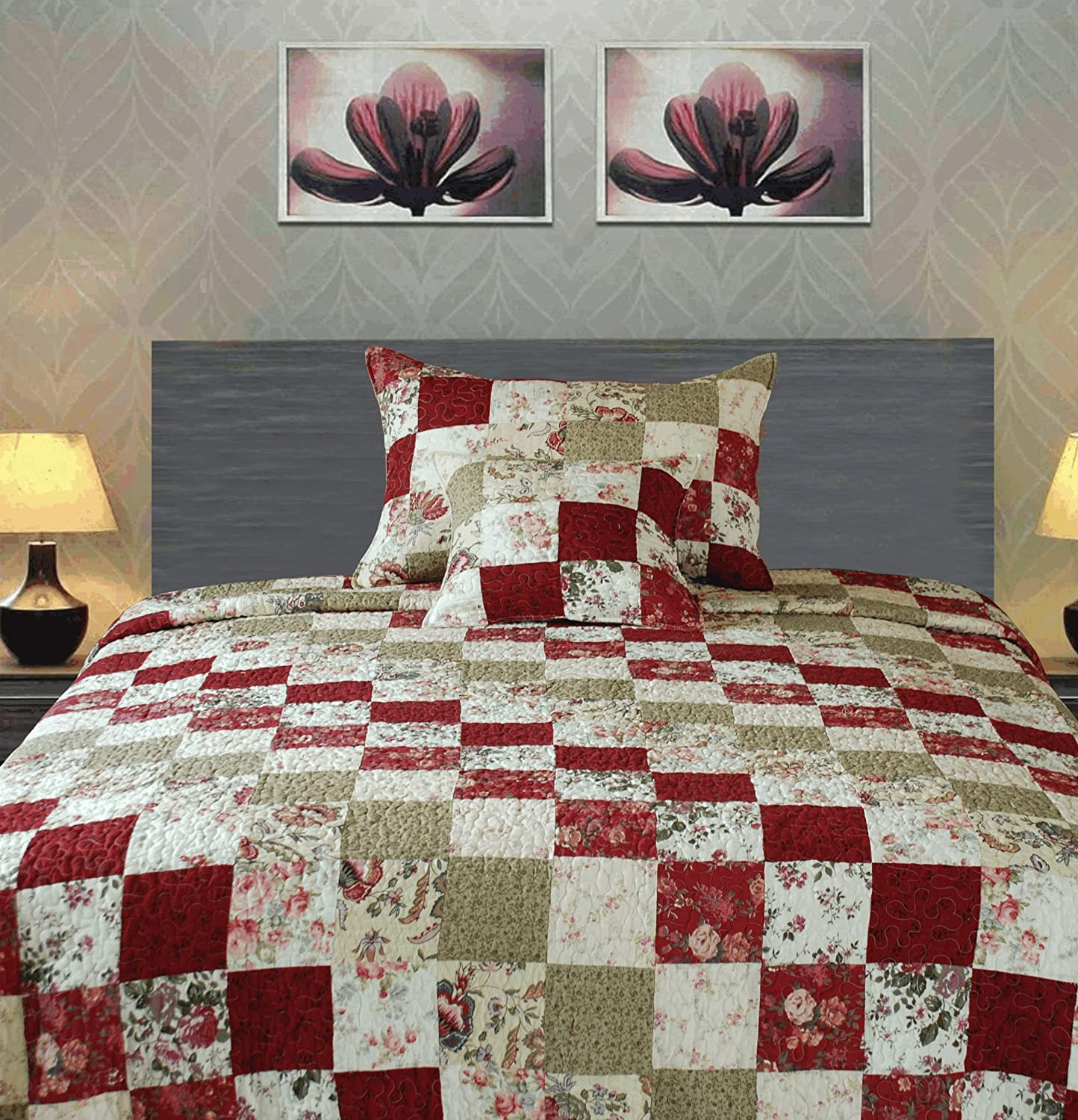 Red And Beige Cream Bedding Ease Bedding With Style