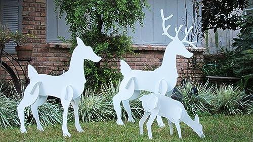 Christmas Outdoor Reindeer Family Set