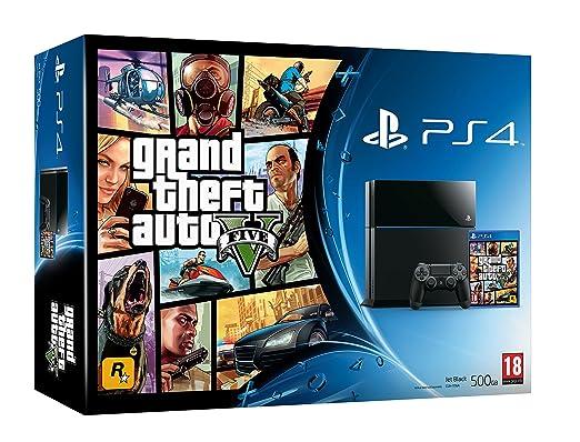 PlayStation 4 - Consola, Color Negro + GTA V