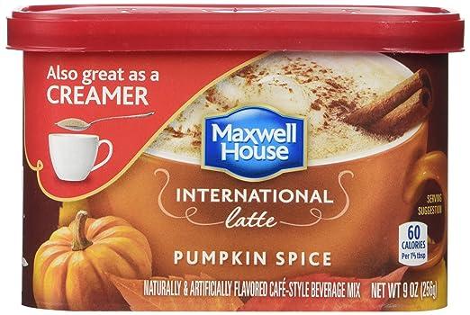 Maxwell House International Coffee Pumpkin Spice Latte 9 oz - THR