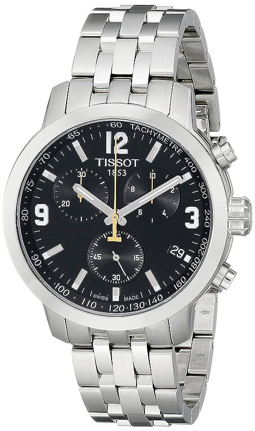 Best Watches Under 500 - Tissot Men's T0554171105700 PRC200 Analog Display Quartz Silver Watch