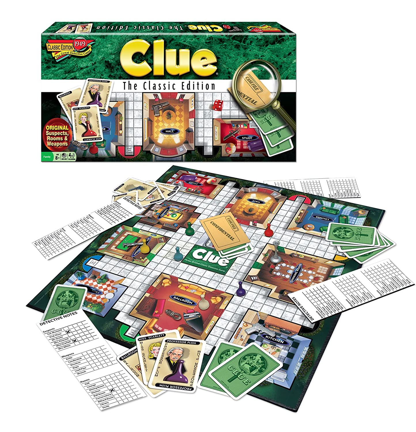 Clue a perfect family game to teach elimination techniques and strategy Have a quick and easy family game night with Tony's Pizza and these 10 great family games.