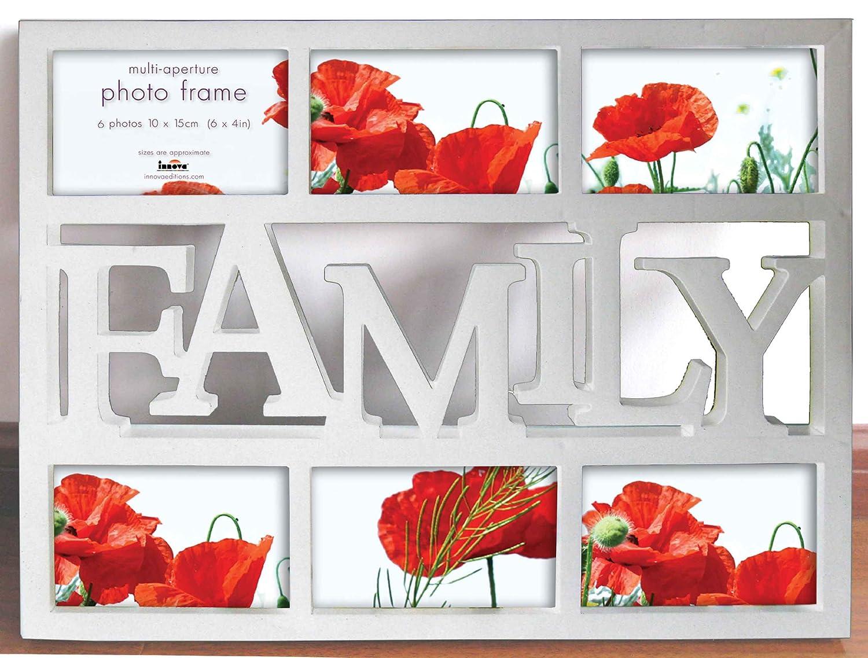 Fotorahmen Collage Family Weiß - 6 Fotos 10x15 cm - Bilderrahmen ...