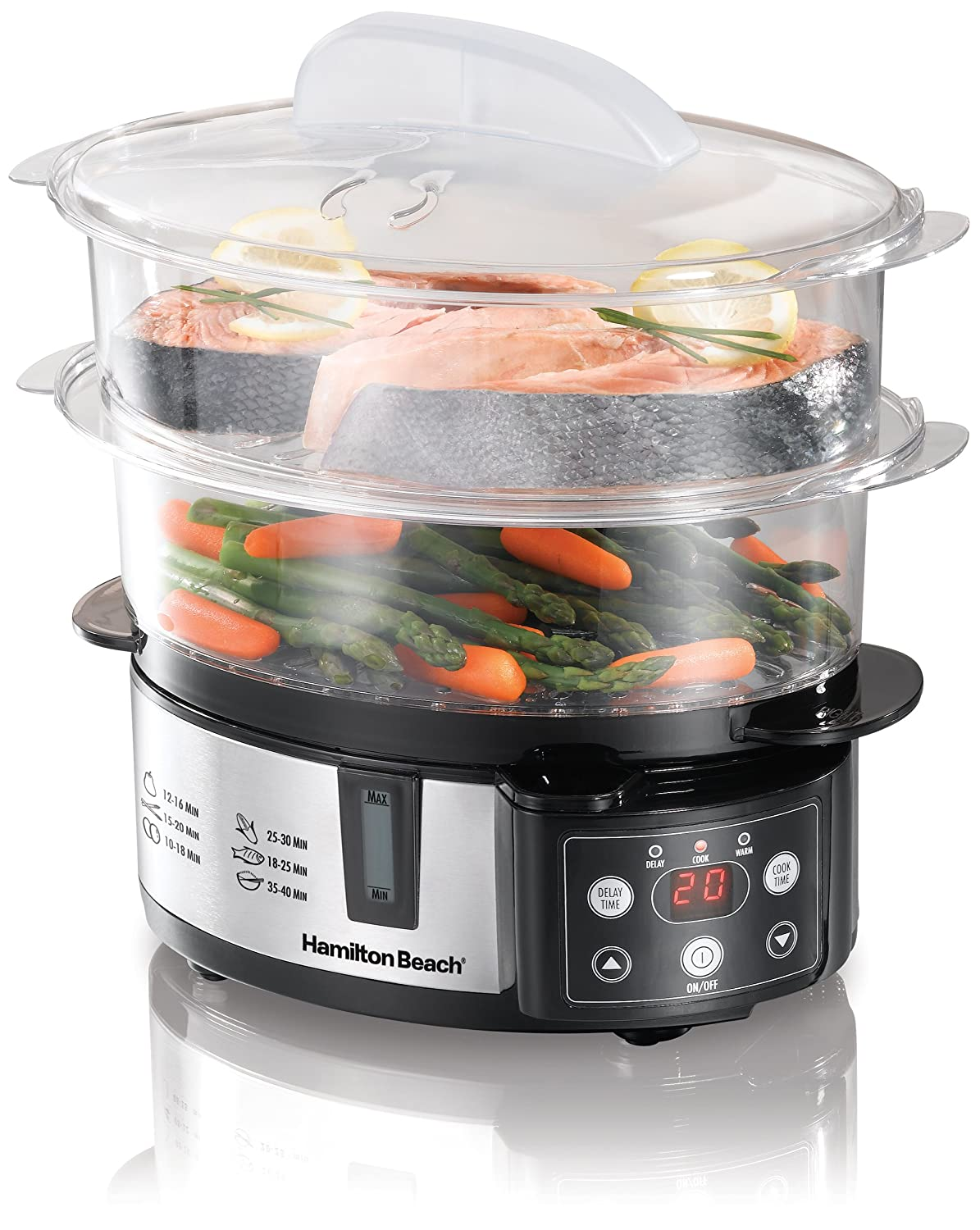 3 Tier Electric Steamer ~ Top best electric food steamers in reviews