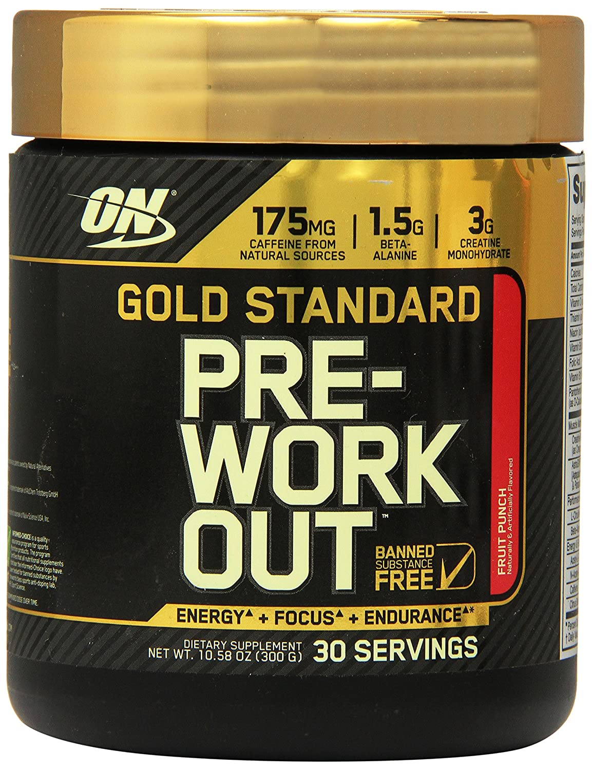 Optimum Nutrition pre workout reviews