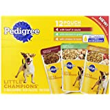 Pedigree Little Champions Pouch Wet Dog Food, 4-Pound Bag