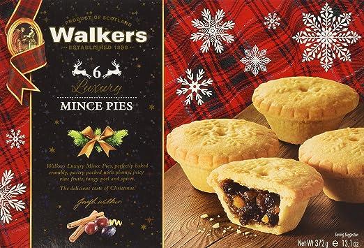 Walkers 6 Luxury Mincemeat Tarts - Net Wt. 372 g / 13.1 oz