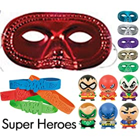 36 Pc Superheroes Party Favor Pack