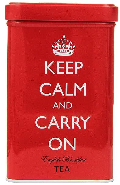 Keep Calm and Carry On Tea Tin, English Breakfast Tea (40 Bags)