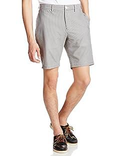 Seersucker Shorts 11-25-0577-120: Grey Stripe