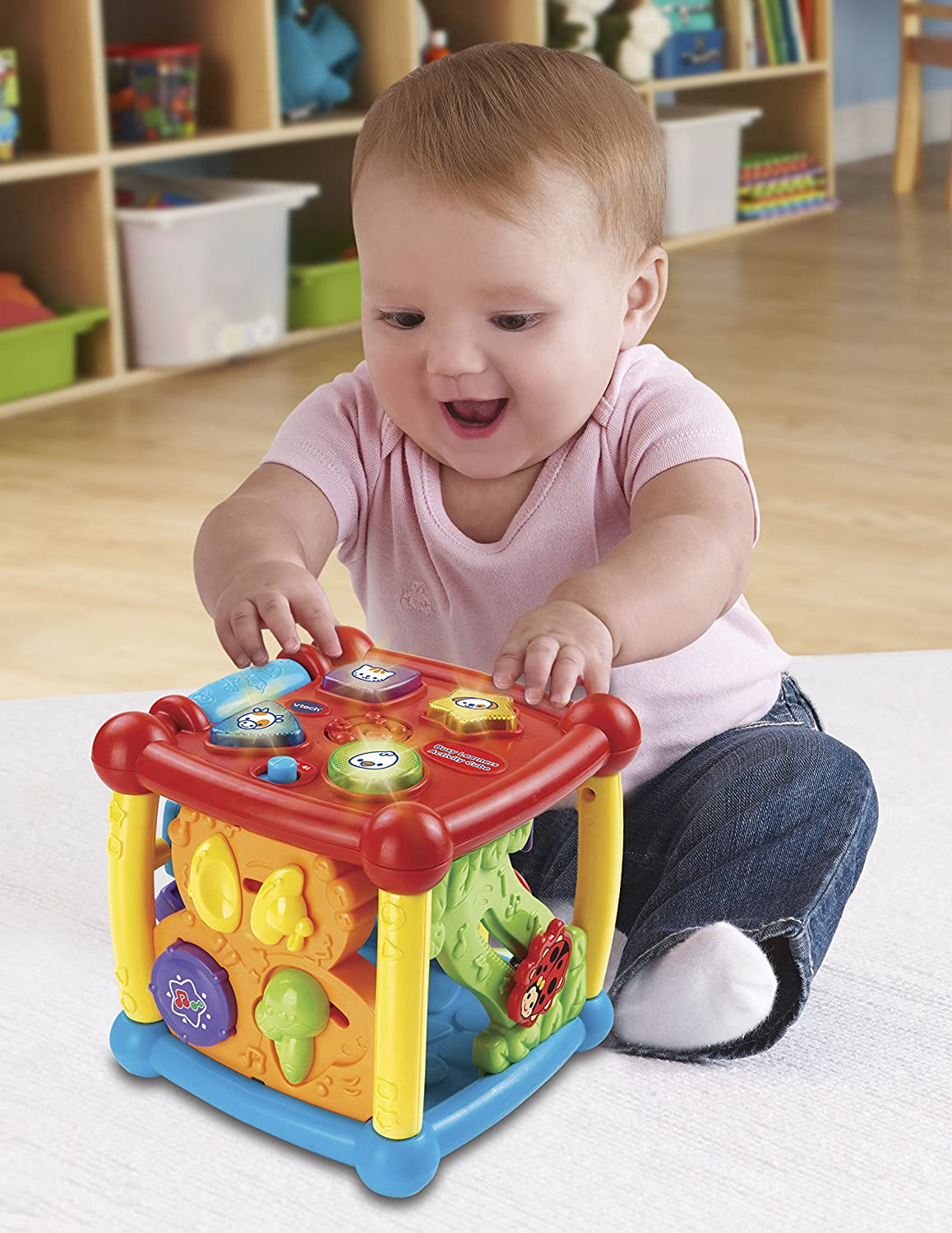 Toys For Active Toddlers : Vtech baby activity center cube kids learning toys animal