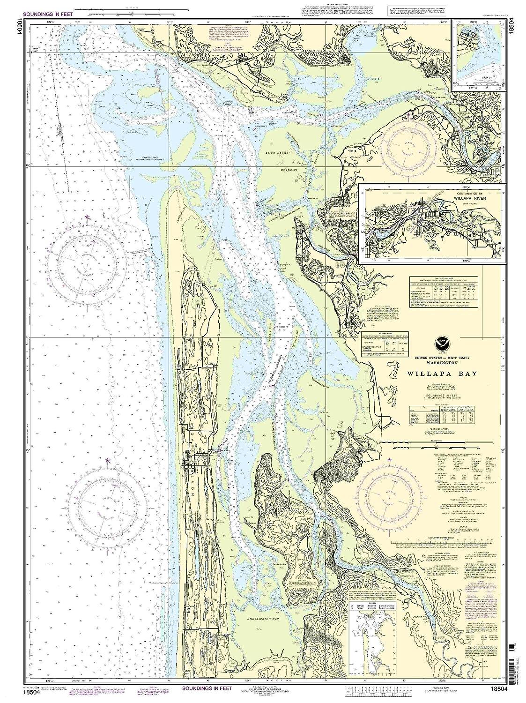 NOAA Chart Willapa Bay; Toke Point 66th Edition 18504