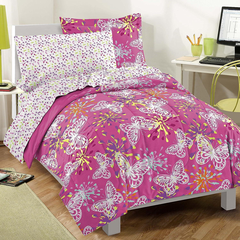 Pink Bed Sheet Design - Girls comforter set pink twin